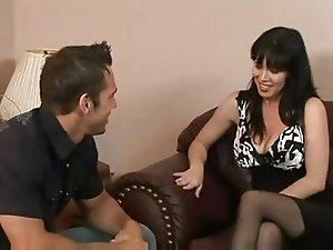 Hot Brunette Cougar Rayveness Bangs Friend's Son