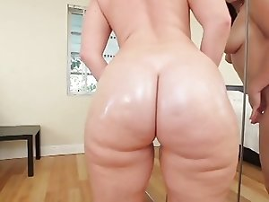 (POV) PAWG Bending Over For Black Dick