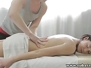 RubATeen 18 year old Russian babe Gerta massage anal sex