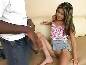 Naughty Asian teen and horny black male