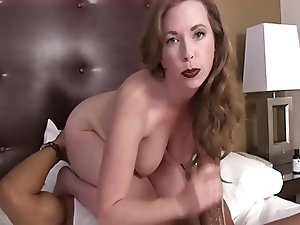 Huge black cock fuck white slut
