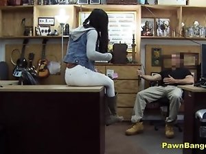 Dirty Black Slut Fucks Shop Owner For Dollars