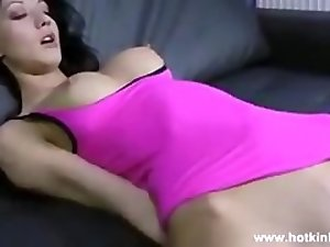 big dildo in her stomach