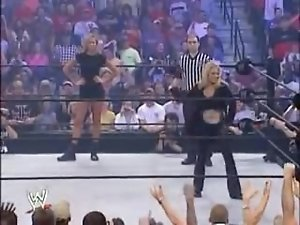 Trish vs Stacy bra & panties match