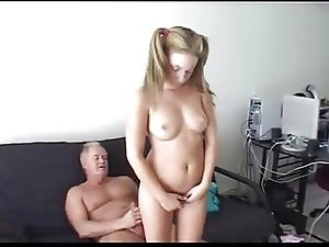 Horny daddy and nude stepdaughter