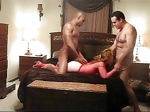 Wife enjoys hubby and best pal (cuckold)